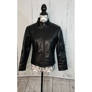 Emporio & Co black short leather Italy Size medium